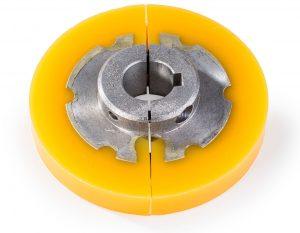 Zugrolle Metall-Polyurethan-Verbindung